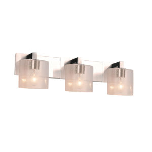 Fusion Modular Polished Chrome Three-Light LED Bath Bar