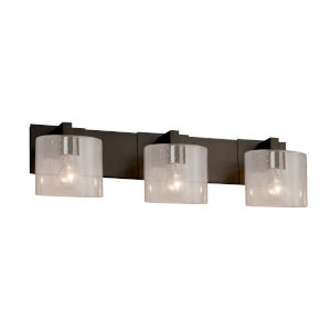 Fusion Modular Dark Bronze Three-Light LED Bath Bar
