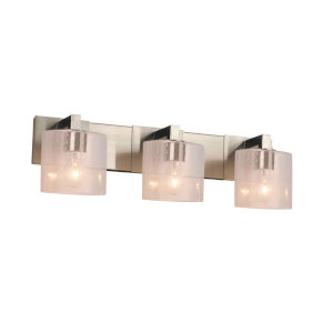 Fusion Modular Brushed Nickel Three-Light LED Bath Bar