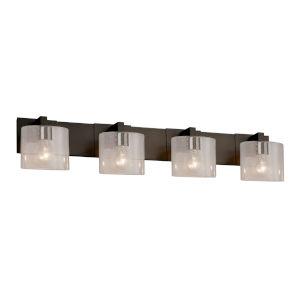 Fusion Modular Dark Bronze Four-Light Bath Bar