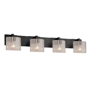 Fusion Modular Matte Black Four-Light LED Bath Bar