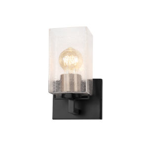 Fusion Vice Matte Black and Brass One-Light Wall Sconce
