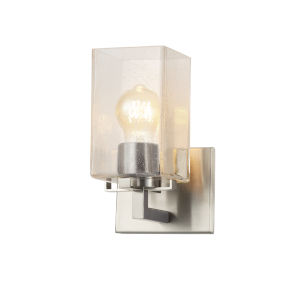 Fusion Vice Brushed Nickel One-Light Wall Sconce
