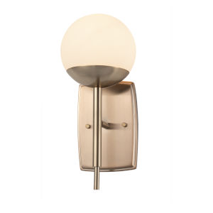 Fusion Epoch Brushed Brass One-Light Wall Sconce