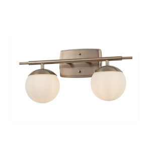 Fusion Brushed Brass Two-Light Bath Vanity