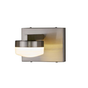 Fusion Puck Brushed Nickel LED Wall Sconce