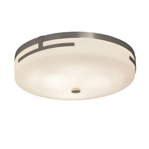 Fusion Brushed Nickel 14-Inch LED Flush Mount with Opal Glass
