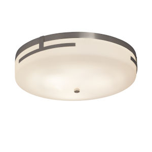 Fusion Brushed Nickel 19-Inch LED Flush Mount with Opal Glass