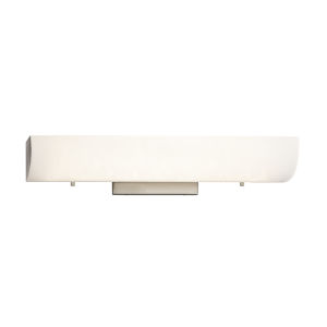 Fusion Brushed Nickel LED Bath Bar with Opal Glass