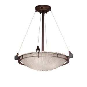 Veneto Luce Dark Bronze Three-Light LED Pendant