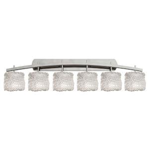 Veneto Luce Brushed Nickel Six-Light Bath Vanity
