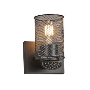 Wire Mesh - Malleo Matte Black Six-Inch One-Light Wall Sconce