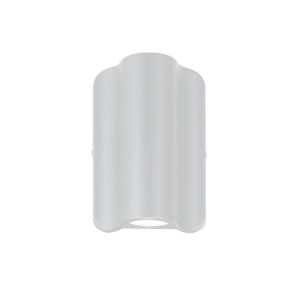 Cove Matte White Two-Light LED Outdoor Wall Mount