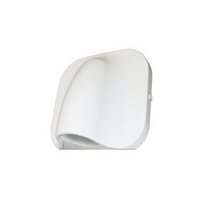 Cove Matte White LED Outdoor Wall Mount