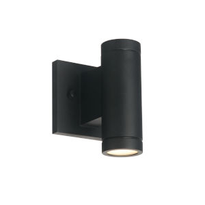 Portico Matte Black LED Outdoor Wall Mount
