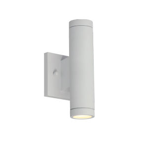 Portico Matte White Two-Light LED Outdoor Wall Mount