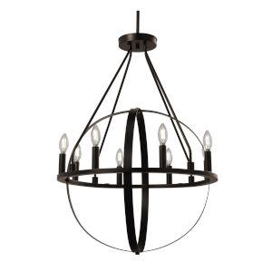 Orbit Dark Bronze Eight-Light Chandelier