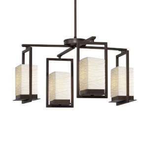 Porcelina Dark Bronze Four-Light LED Chandelier