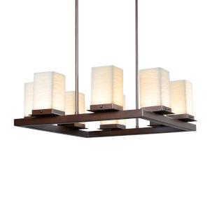 Porcelina - Laguna Dark Bronze 25-Inch Eight-Light LED Outdoor Chandelier