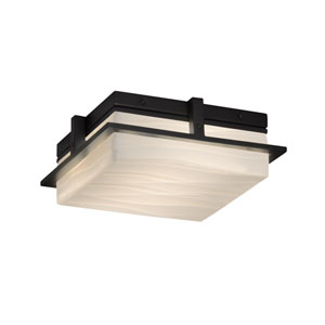 Porcelina Avalon Matte Black LED Outdoor Flush Mount