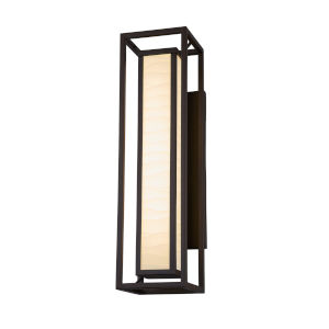 Porcelina Dark Bronze Two-Light LED Outdoor Wall Mount