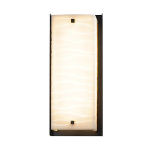 Porcelina Matte Black LED Outdoor Wall Mount