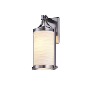 Porcelina Brushed Nickel One-Light Outdoor Wall Mount