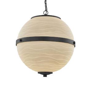 Porcelina - Imperial Matte Black 17-Inch Four-Light LED Chandelier