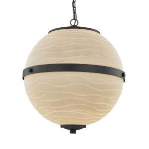 Porcelina - Imperial Matte Black 25-Inch Six-Light LED Chandelier
