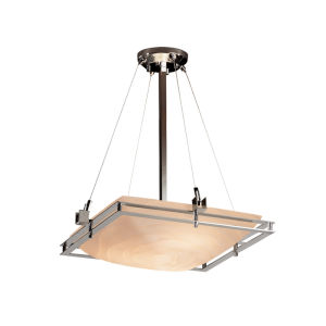 Porcelina Brushed Nickel Three-Light LED Pendant