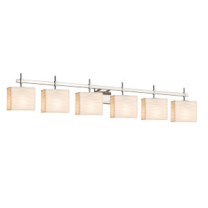 Porcelina Brushed Nickel Six-Light LED Bath Vanity