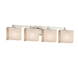 Porcelina Regency Brushed Nickel Four-Light Bath Vanity