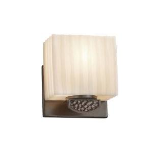Porcelina - Malleo Brushed Nickel Six-Inch One-Light ADA Wall Sconce