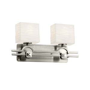 Porcelina Argyle Brushed Nickel Two-Light Bath Vanity