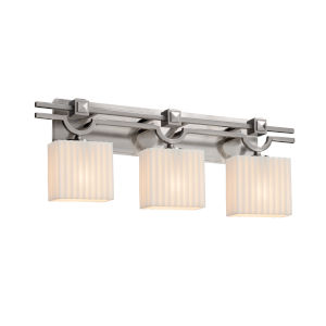 Porcelina Argyle Brushed Nickel Three-Light LED Bath Vanity