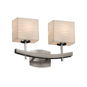 Porcelina Archway Brushed Nickel Two-Light LED Bath Vanity