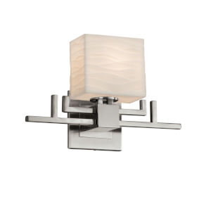 Porcelina Aero Brushed Nickel LED Wall Sconce with Rectangle Shade