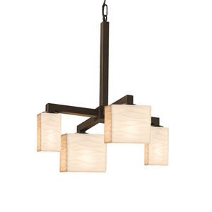 Porcelina Modular Dark Bronze Four-Light LED Chandelier