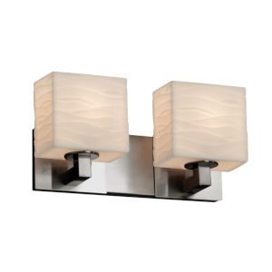 Porcelina Modular Brushed Nickel Two-Light LED Bath Vanity