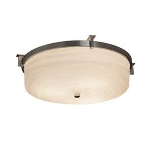 Porcelina Era Brushed Nickel Two-Light LED Flush Mount