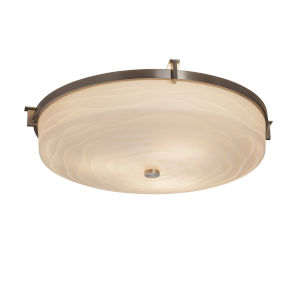 Porcelina Brushed Nickel Three-Light Flush Mount