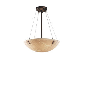 Porcelina Dark Bronze Three-Light Pendant