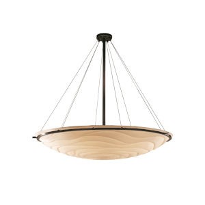 Porcelina Dark Bronze Six-Light LED Bowl Pendant