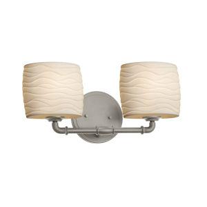 Limoges Brushed Nickel Two-Light LED Bath Vanity
