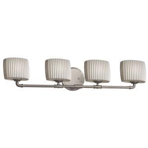 Limoges Brushed Nickel Four-Light LED Bath Vanity