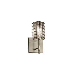 Wire Glass Union Brushed Nickel LED Wall Sconce
