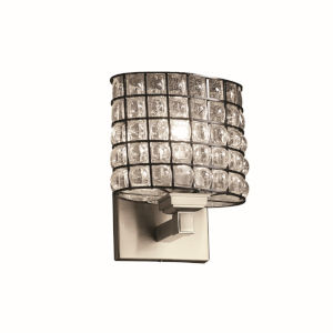 Wire Glass Regency Brushed Nickel LED Wall Sconce