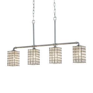 Wire Glass - Bronx Matte Black Five-Inch Four-Light Chandelier