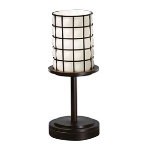 Wire Glass Dakota Dark Bronze Short Table Lamp