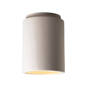 Radiance Antique Silver LED Cylindrical Outdoor Flush Mount